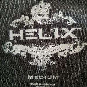 Helix Sweaters - Men's Helix Long Sleeve Shirt SZ M Gray Brooklyn